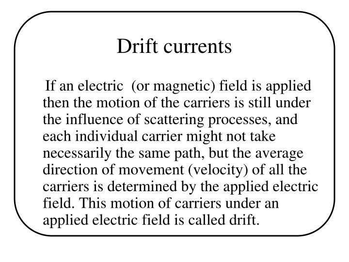 Drift currents