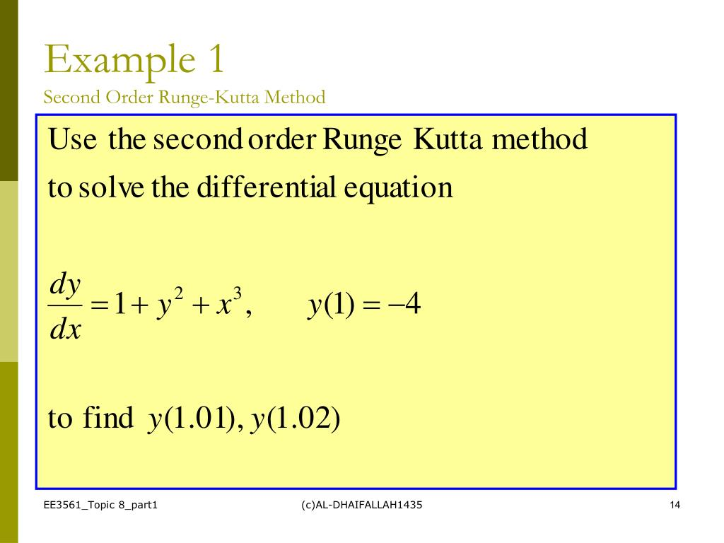 Runge kutta 2nd order in c