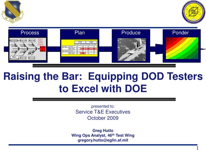 PPT - Raising the Bar: Equipping DOD Testers to Excel with