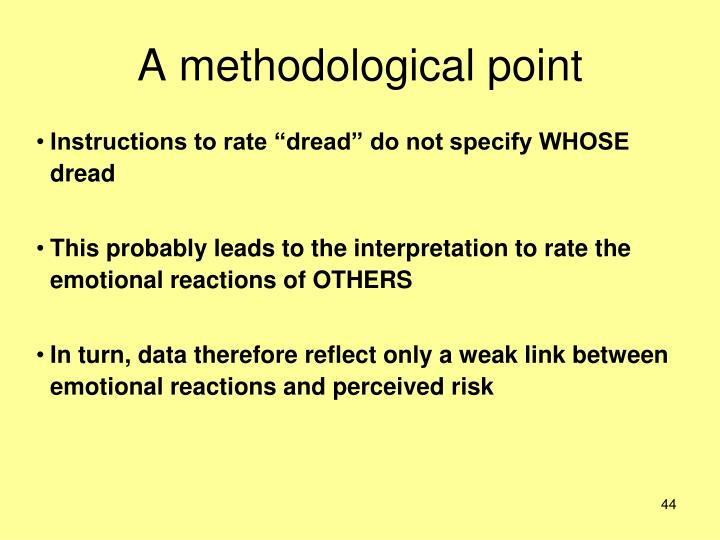 A methodological point