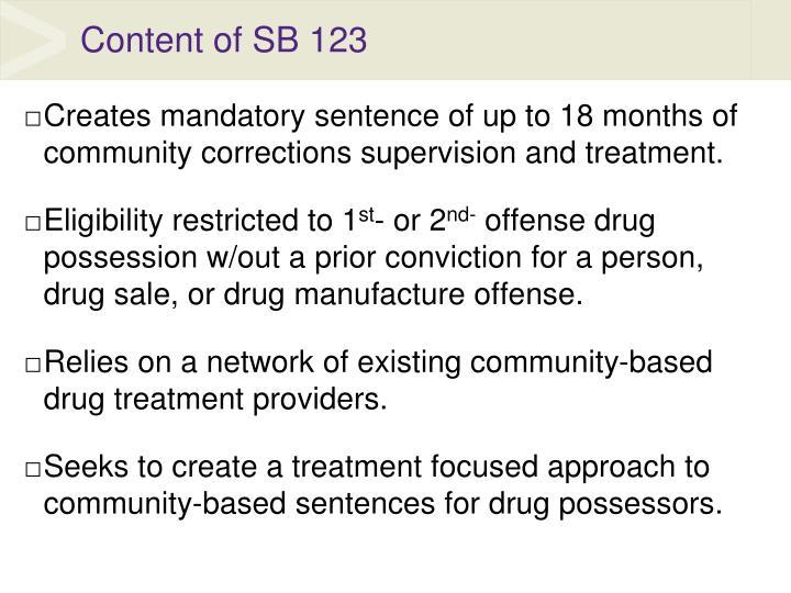 Content of SB 123