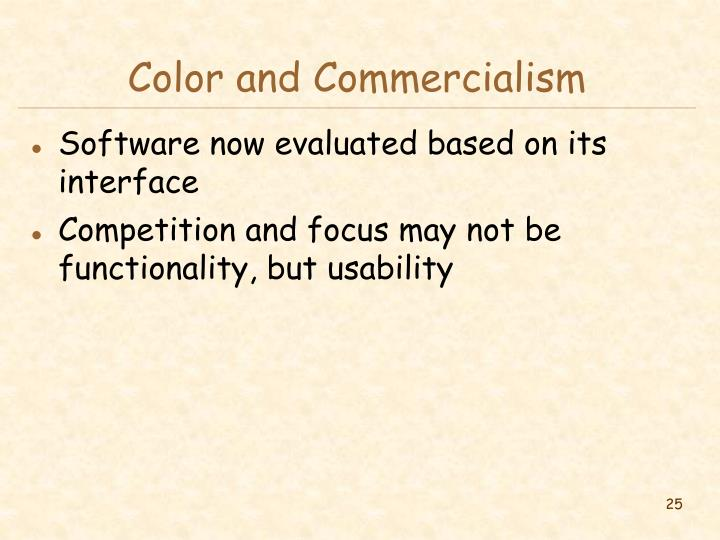 Color and Commercialism