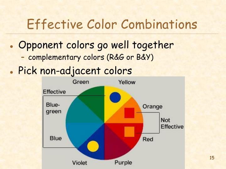 Effective Color Combinations