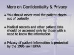 more on confidentiality privacy