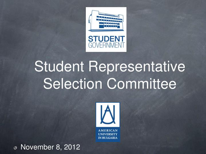 Student representative selection committee