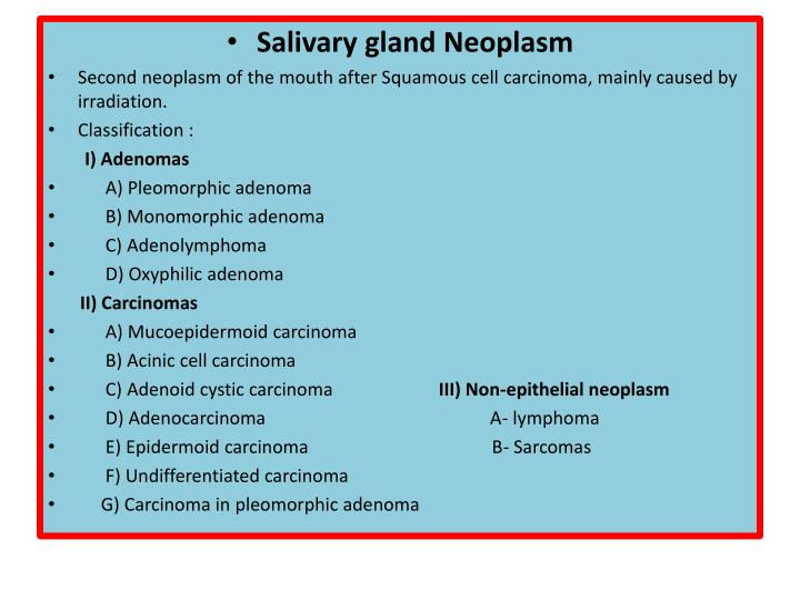 Salivary gland Neoplasm