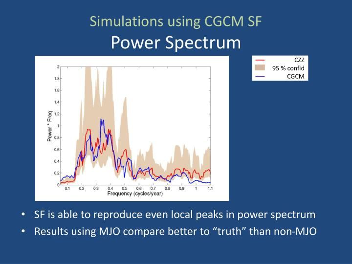 Simulations using CGCM SF