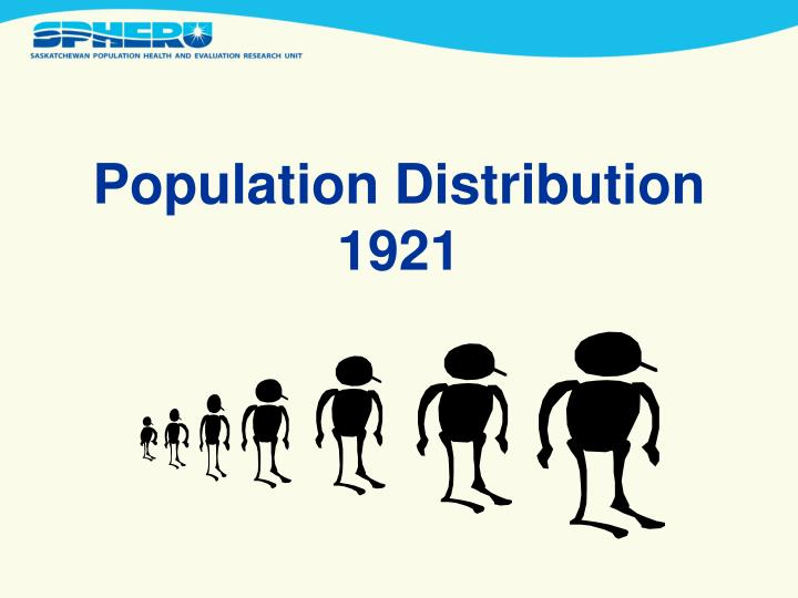 Population distribution 1921