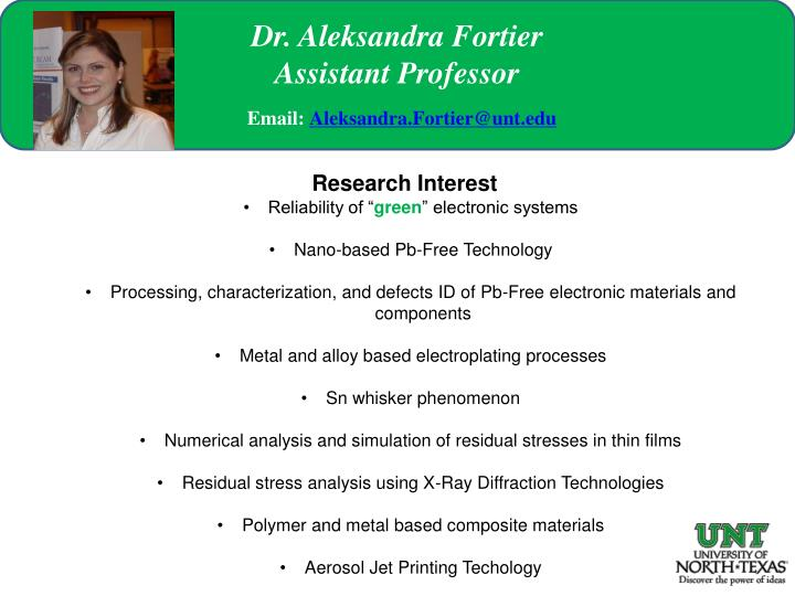 """PPT - Research Interest Reliability of """" green """" electronic systems"""