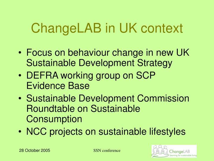 ChangeLAB in UK context