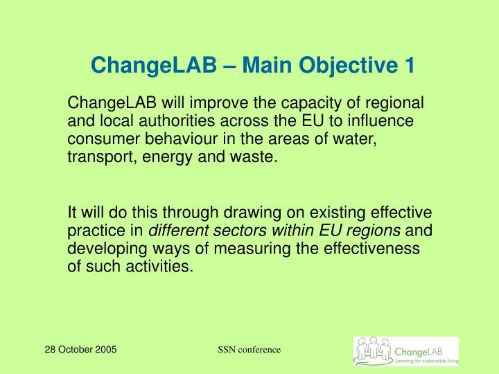 ChangeLAB – Main Objective 1