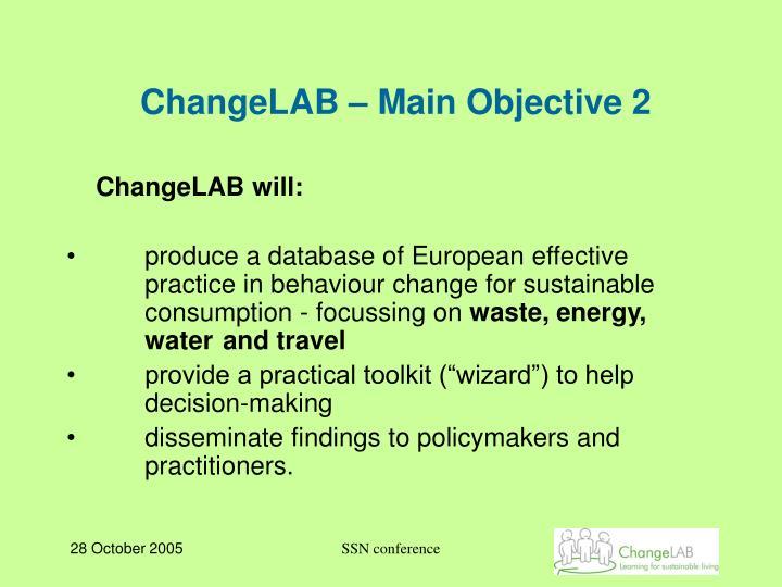 ChangeLAB – Main Objective 2