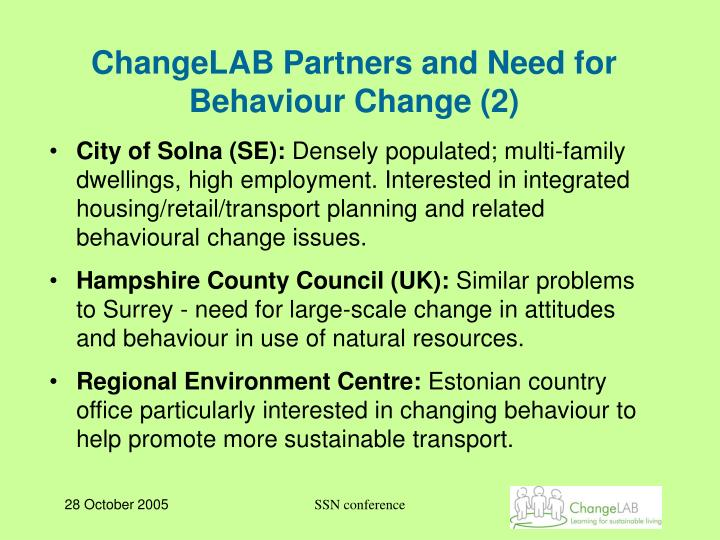 ChangeLAB Partners and Need for Behaviour Change (2)