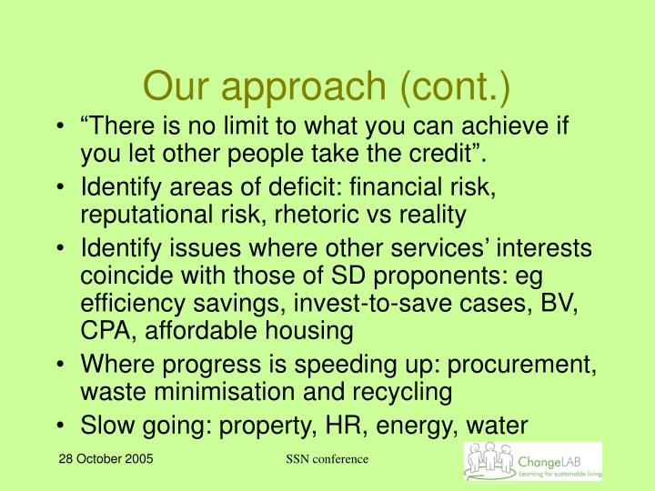 Our approach (cont.)