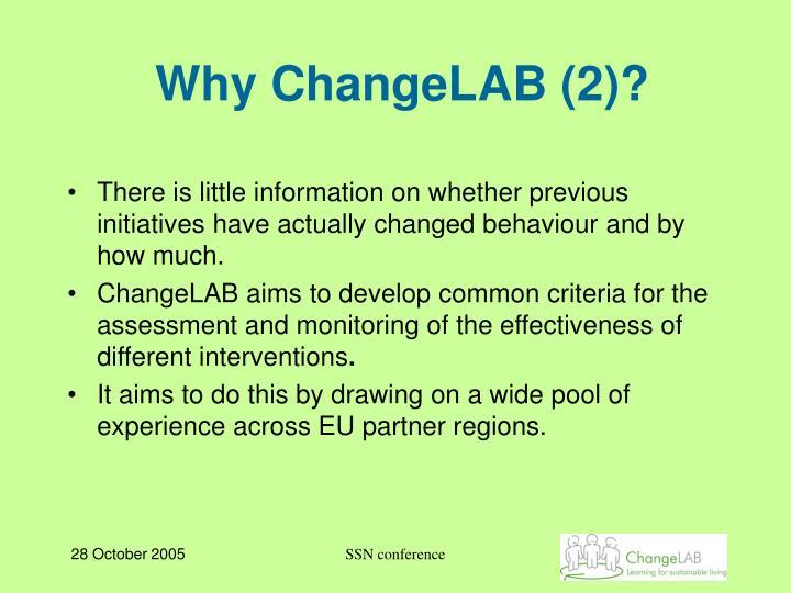 Why ChangeLAB (2)?