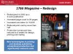 1766 magazine redesign