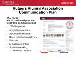 rutgers alumni association communication plan3