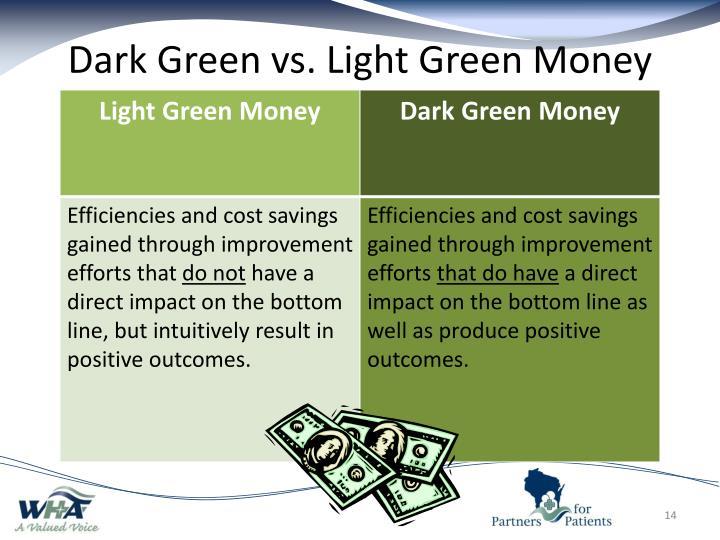 Dark Green vs. Light Green Money