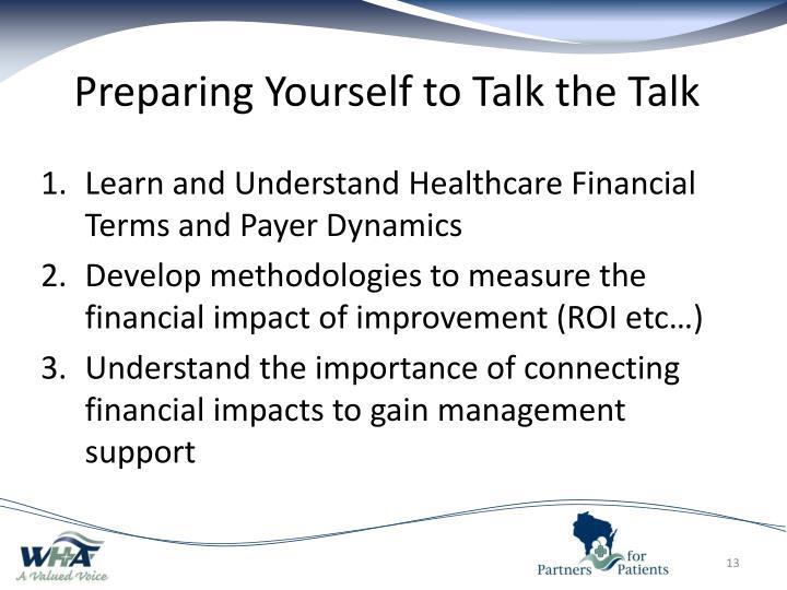 Preparing Yourself to Talk the Talk