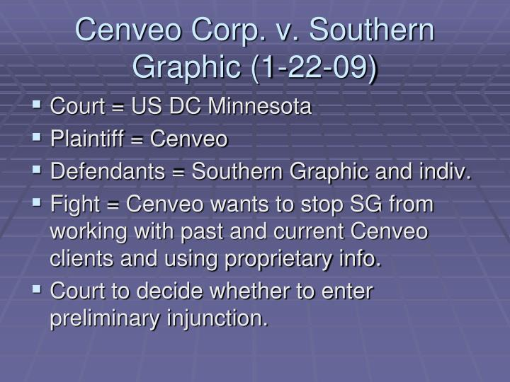 Cenveo corp v southern graphic 1 22 091