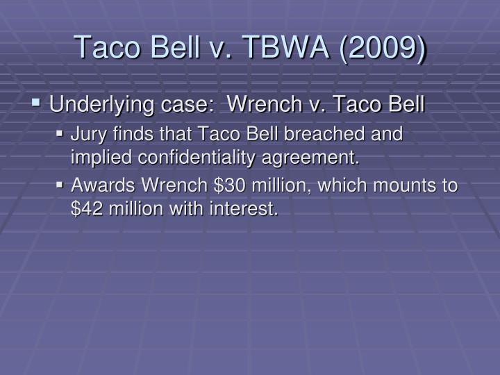 Taco Bell v. TBWA (2009)