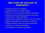 1995 start of the race to prosperity