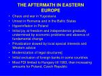 the aftermath in eastern europe