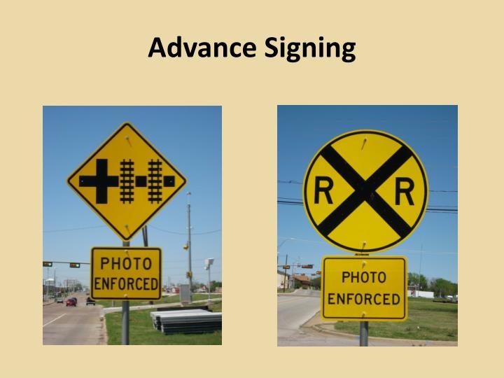 Advance Signing