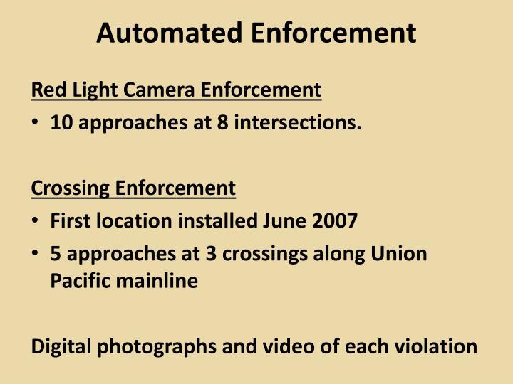 Automated Enforcement