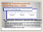model of transformational leadership bass 19851