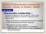 theory of charismatic leadership shamir house arthur 1993