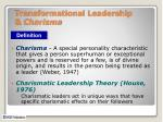transformational leadership charisma