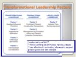 transformational leadership factors