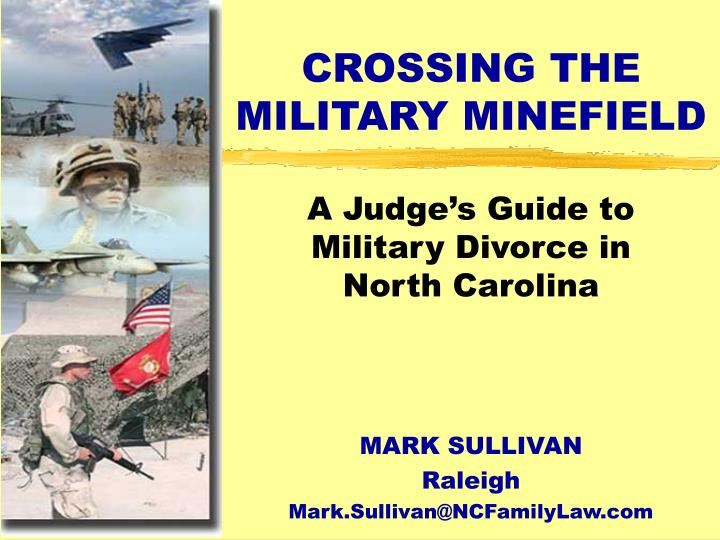 crossing the military minefield n.