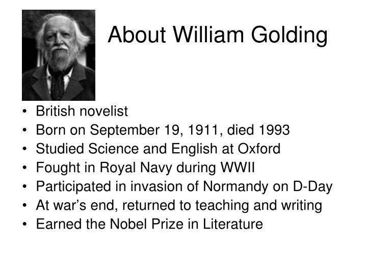 william golding writing style Alison becker talks about william golding's not-so-successful career as a teacher and how it inspired him to write lord of the flies.