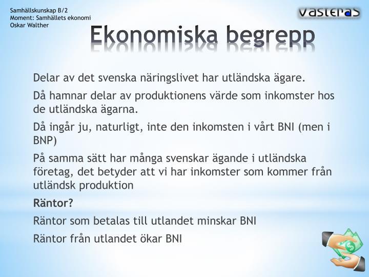 Ekonomiska begrepp1