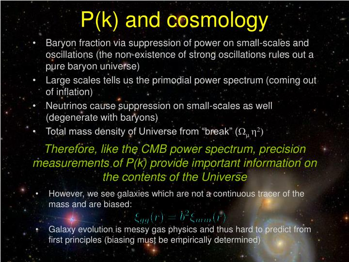P(k) and cosmology