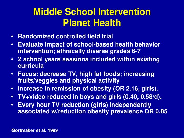 Middle School Intervention