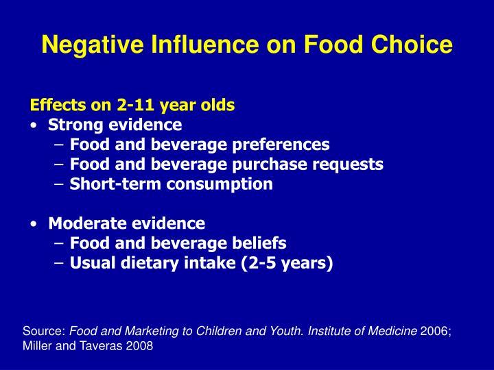 Negative Influence on Food Choice