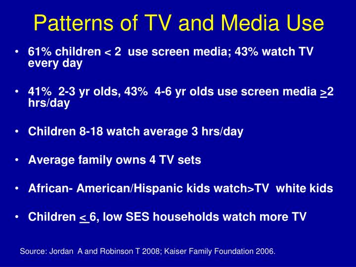 Patterns of TV and Media Use