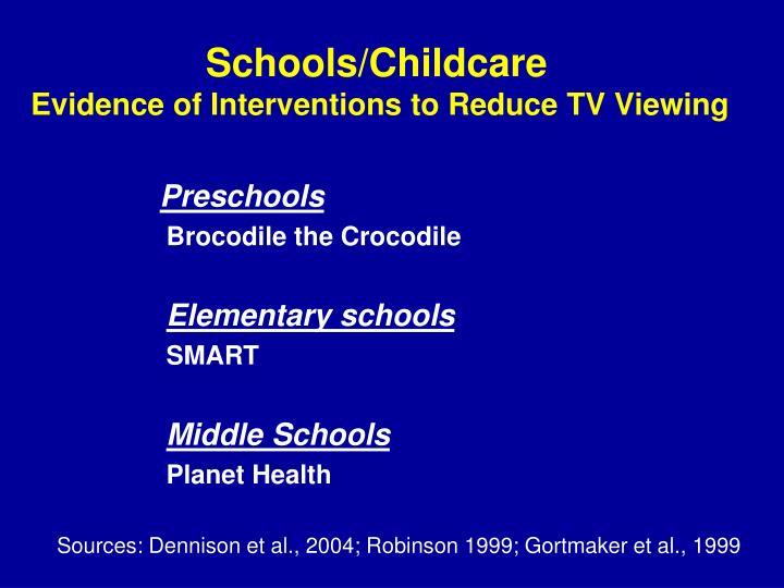 Schools/Childcare