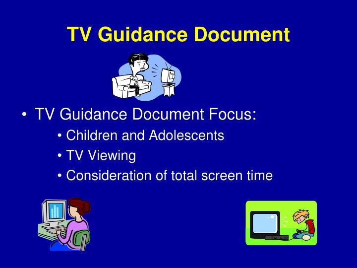 TV Guidance Document