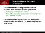 domain name service continued1