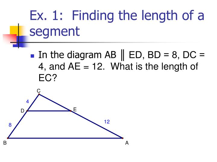 Ex. 1:  Finding the length of a segment