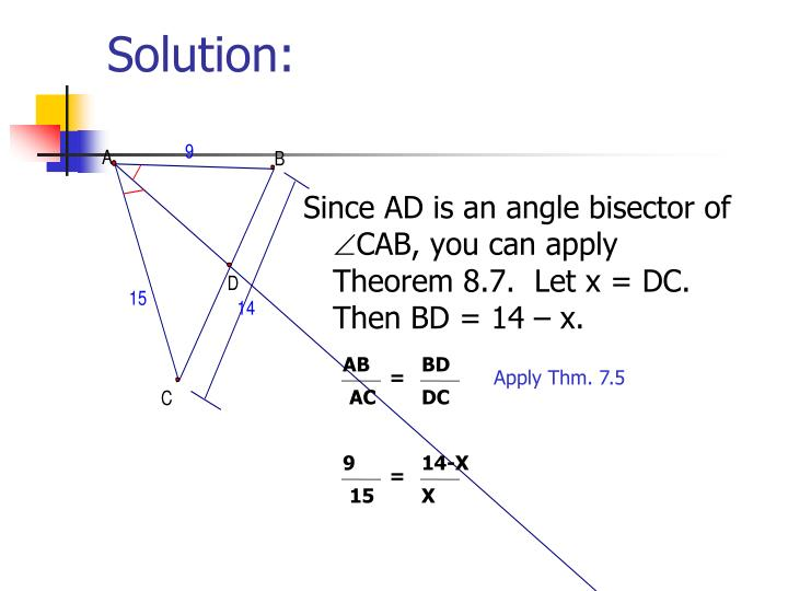 Since AD is an angle bisector of