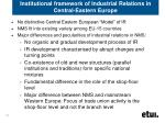 institutional framework of industrial relations in central eastern europe