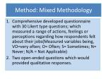 method mixed methodology
