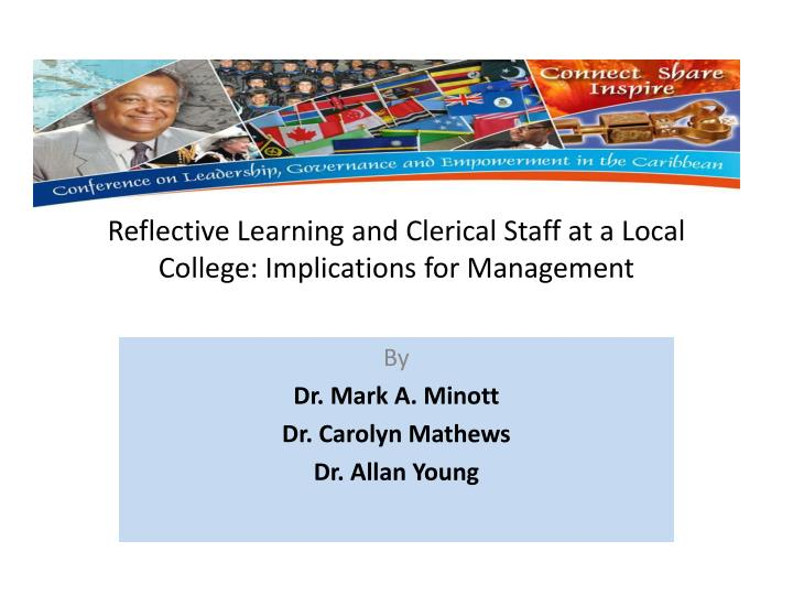 reflective learning and clerical staff at a local college implications for management n.