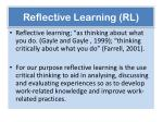 reflective learning rl