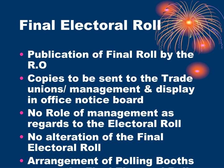 Final Electoral Roll